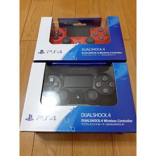 2個 PS4 ワイヤレスコントローラー ブラック