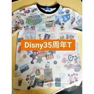 ディズニー(Disney)のディズニー ランド 35周年 ヒストリー柄 Tシャツ(Tシャツ(半袖/袖なし))