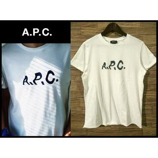 アーペーセー(A.P.C)の即完売 アーペーセー × ジャーナルスタンダード 別注 ロゴ 半袖 Tシャツ M(Tシャツ/カットソー(半袖/袖なし))