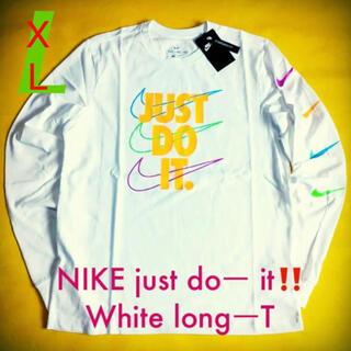 ナイキ(NIKE)のNIKE ナイキ SP BRANDMARKS ホワイトlong T XL(Tシャツ/カットソー(七分/長袖))