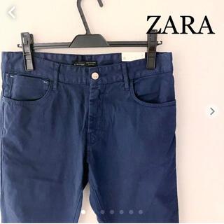 ZARA - ZARA チノコンフォートパンツ ネイビー W30 ザラ