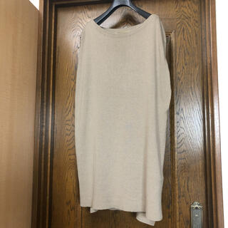 L'Appartement DEUXIEME CLASSE - L'Appartment アパルトモン 綿絹 ニットチュニック カーキベージュ