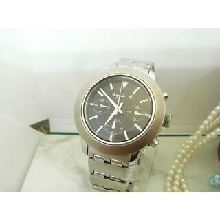 アニエスベー(agnes b.)のアニエス ベー agnes b. ブラック クロノグラフ メンズ ウォッチ(腕時計(アナログ))