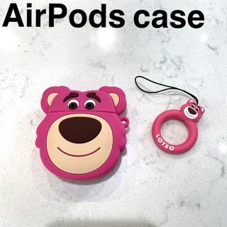 Apple - 残り1つ!AirPodsケース エアポッドケース ピンク熊 ロッツォ