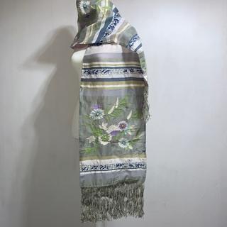 ケンゾー(KENZO)の新品 KENZO PARIS ケンゾー パリ 亜麻・絹 ストール 2m(ストール/パシュミナ)