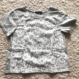 イマージュ(IMAGE)のディノス  イマージュ 半袖 Tシャツ トップス 二重レース(Tシャツ(半袖/袖なし))