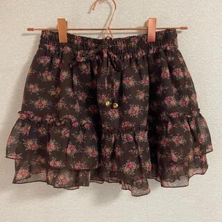 リズリサ(LIZ LISA)のリズリサ 花柄 ミニスカート(ミニスカート)