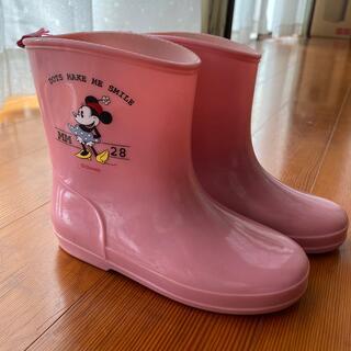 ディズニー(Disney)の美品 18cm 長靴 ミニーちゃん(長靴/レインシューズ)