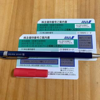 エーエヌエー(ゼンニッポンクウユ)(ANA(全日本空輸))の⭐︎⭐︎ANA 株主優待券 2枚⭐︎⭐︎(航空券)