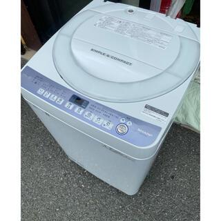 SHARP - 奈良発 2018年製 シャープ 人気の穴無し槽 7kg洗濯機 ES-T710-W