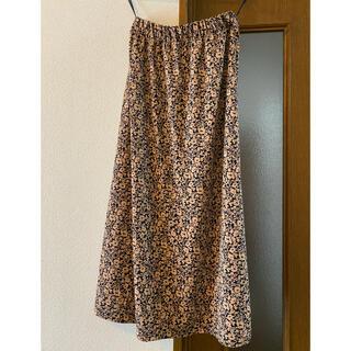 UNIQLO - UNIQLO クレープジャージスカート 小花 未使用