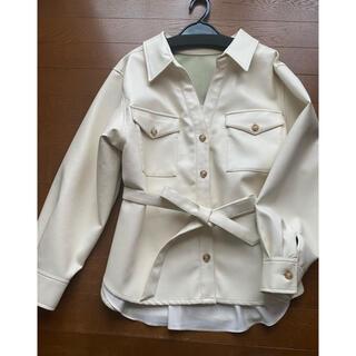 アンドクチュール(And Couture)のアンドクチュール 合皮シャツ ジャケット(シャツ/ブラウス(長袖/七分))