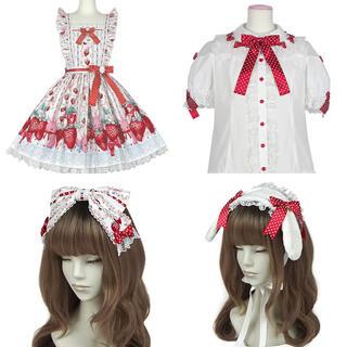 Angelic Pretty - Little Bunny Strawberry シロ セット