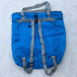 エコバッグ  リュックサック 手提げバッグ コンパクト 折り畳み 軽量 ブルー (エコバッグ)