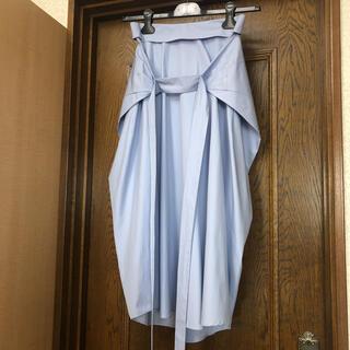 ジルサンダー(Jil Sander)のJIL SANDER ジルサンダー コクーンスカート サイズ34 サックスブルー(ロングスカート)