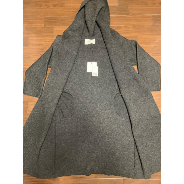 DEUXIEME CLASSE(ドゥーズィエムクラス)のDeuxieme Classe ADAWAS KNIT GAWN  グレー レディースのジャケット/アウター(ロングコート)の商品写真