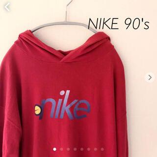 ナイキ(NIKE)のNIKE 90's 長袖カットソー  フード付き アメリカ製 ナイキ(Tシャツ/カットソー(七分/長袖))