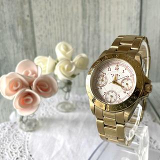 agete - 【動作OK】agete アガット 腕時計 デイテイト ボーイズ ゴールド