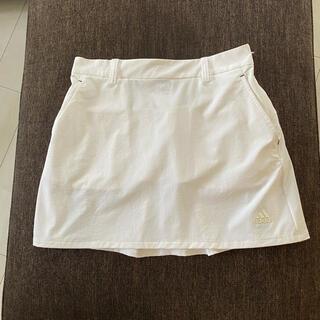 アディダス スカート ホワイト サイズSゴルフウェアー(ウエア)
