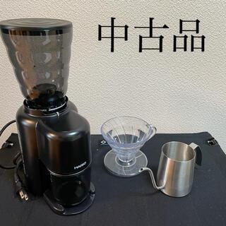 ハリオ(HARIO)の【中古品】HARIO V60 電動ミル(細口ポット&コーヒードリッパー付)(コーヒーメーカー)