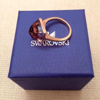 スワロフスキー(SWAROVSKI)のスワロフスキー パープルストーンリング(リング(指輪))