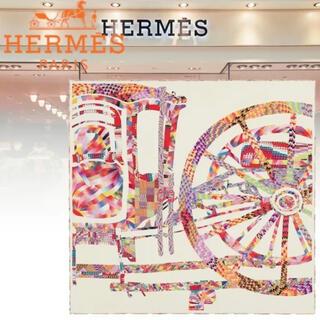 Hermes - 激レア エルメス  マーブルシルク カレ75《ベルリンヌ馬車に乗って》