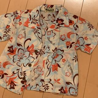 ダブルビー(DOUBLE.B)のミキハウス DOUBLU.B アロハシャツ 80cm(シャツ/カットソー)