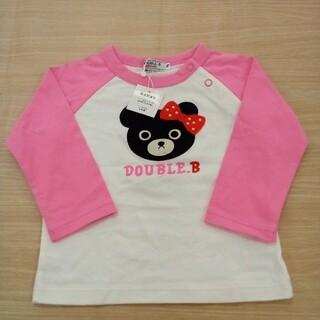 ダブルビー(DOUBLE.B)の未使用 ダブルビー 長袖 Tシャツ 70~80cm 02MN0516877(Tシャツ)