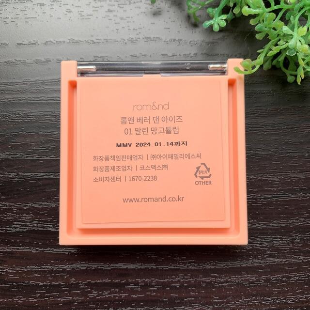 ETUDE HOUSE(エチュードハウス)のrom&nd ロムアンド ベターザンアイズ01 ドライマンゴーチューリップ コスメ/美容のベースメイク/化粧品(アイシャドウ)の商品写真