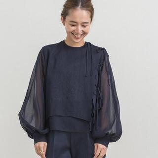 Drawer - yori ヨリ shirocon コットンオーガンジーブラウス
