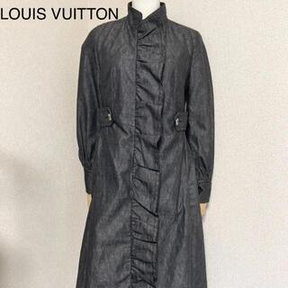LOUIS VUITTON - ルイヴィトン ロングコート スタンドカラーチャコールグレー