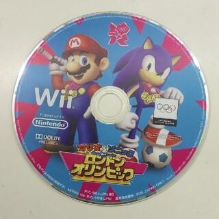 ウィー(Wii)のWii マリオ&ソニック AT ロンドンオリンピック ディスクのみです(家庭用ゲームソフト)