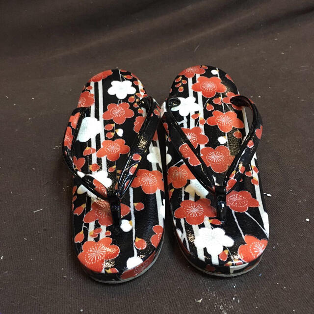 草履 バッグ セット 和装小物 黒 花柄 レディース レディースの水着/浴衣(和装小物)の商品写真