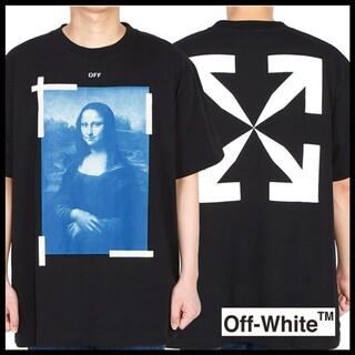 オフホワイト(OFF-WHITE)の21SS OFF-WHITE オフホワイト モナリザ ロゴ Tシャツ L(Tシャツ/カットソー(半袖/袖なし))