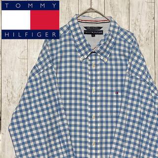 トミーヒルフィガー(TOMMY HILFIGER)のTOMMY トミーヒルフィガー ギンガムチェック BDシャツ 長袖 XL(シャツ)
