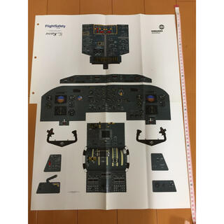 エアラインパイロット 訓練用 コックピットポスター(航空機)