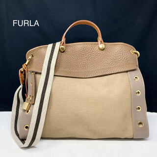 Furla - フルラ ハンドバッグ 2way キャンバス