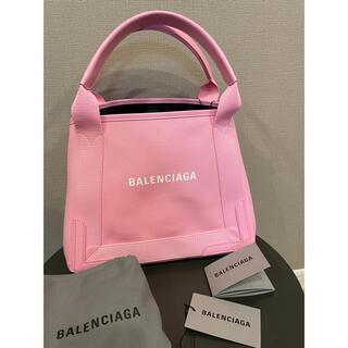 Balenciaga - 新色 ネイビー カバ CANVAS Sサイズ  Tote bag トートバッグ