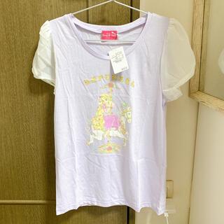 ディズニー(Disney)の【新品】ラプンツェル Tシャツ Mサイズ ディズニーランド パープル(Tシャツ(半袖/袖なし))
