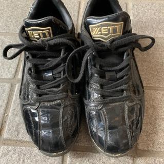 ゼット(ZETT)の野球スパイク 22.0センチ(シューズ)