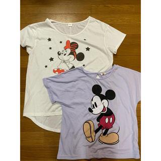 ディズニー(Disney)のミキミニ ミッキー ミニー Tシャツ 2枚セット(Tシャツ(半袖/袖なし))