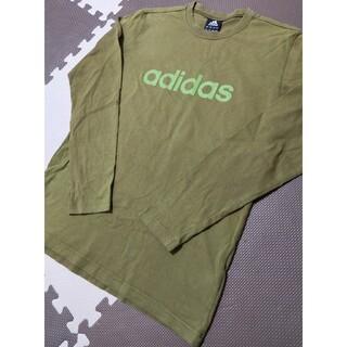 アディダス(adidas)の☆adidas アディダス 長袖カットソー カーキ サイズL  (Tシャツ/カットソー(七分/長袖))