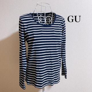 ジーユー(GU)のボーダークルーネックT(Tシャツ(長袖/七分))