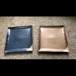 本日限り値下げ!【新品・未使用】美濃焼 モダン角皿2枚セット(食器)