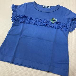 familiar - ファミリア Tシャツ 110 青 リバティ フリル