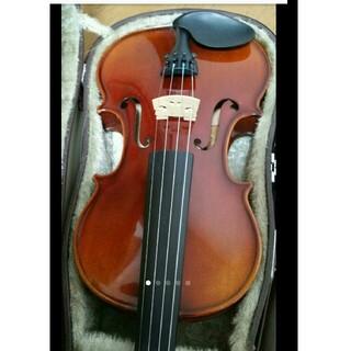 高級 バイオリン 鈴木 No.300 4/4 弓 肩当 松脂 ケース付 定価7万(ヴァイオリン)