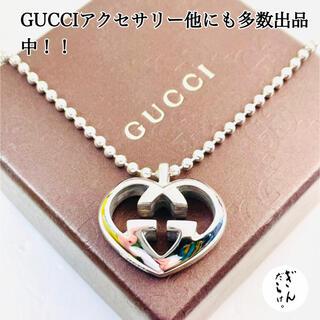 Gucci - 【超美品】GUCCI WGハート ネックレス レディース シルバー925