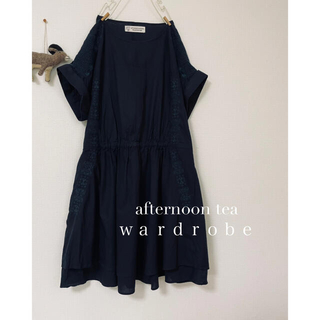AfternoonTea - afternoontea/ 刺繍が素敵なゆったりワンピース。◯