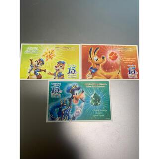 ディズニー(Disney)のディズニーチケット2016 使用済み 15周年 ディズニーシー(遊園地/テーマパーク)
