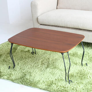 折り畳みテーブル T-2986 BR 未使用(ローテーブル)